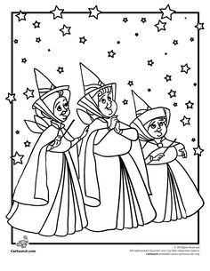 Fairies - Coloring page - DISNEY coloring pages - Sleeping Beauty ...