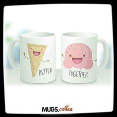 His and Hers Mugs - Couple Mug - Coffee Mug - Cute Mugs - Kawaii Mug - Engaged Mug - Coffee Mug Set - Engagement Mug - Anniversary Mug Cute Coffee Mugs, Coffee Mug Sets, Mugs Set, Coffee Cups, Best Friend Mug, Friend Mugs, Diy Mugs, Personalized Coffee Mugs, Mug Couple