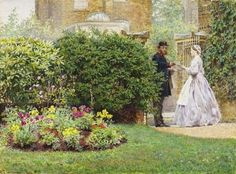 Frederick Walker A.R.A. (1840-1875) My Front Garden. 1864. He was an original member of The Artists Rifles.