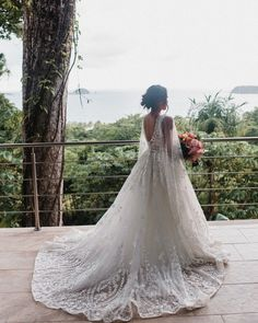 Look at this beautiful moment captured of our Costa Rica bride. How absolutely stunning are the details in her dress! Tropical Wedding Dresses, Flowing Dresses, Destination Wedding Planner, Beautiful Moments, Absolutely Stunning, Costa Rica, That Look, Wedding Day, Wedding Photography