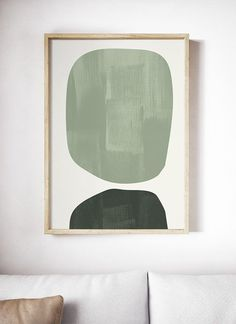 Light Green Mid Century Modern Art Print. Mid Century Print. Abstract Geometric Art. Mid Century Art. Geometric Print. Shapes Ovals Wall Art  ---All Artwork is Printed on High Quality, 56 lb Premium Pro Matte Paper ---FREE SHIPPING in the U.S. /// Availab