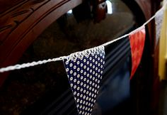 How to use the Sharp Crochet Hook to crochet right through paper to create pennant banner!