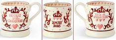 The mugs can be pre-ordered for $34.95 on the Emma Bridgewater site, but be advised shipping to the USA is £20 – that's almost $32 at today's exchange rates. But there is good news for US shoppers: the mug is available for pre-order at Joanne Hudson for $38.99 and that price *includes* shipping.