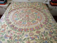 Luxury Hand Embroidered Bedspread/ Large by HandicraftRetailer, £84.00