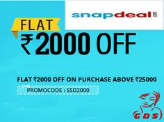 Snapdeal Saving Days - Flat Rs. 2000 off on Electronics Above Rs. 25,000 - Great Deal Store