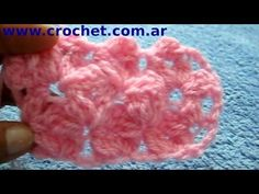 Punto Jazmín en tejido crochet tutorial paso a paso. - YouTube