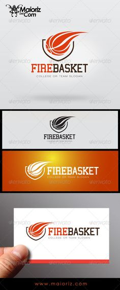 Fire Basket Logo — Vector EPS #basket #basketball • Available here → https://graphicriver.net/item/fire-basket-logo/7236569?ref=pxcr