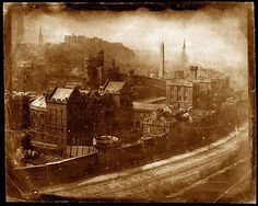 View from Calton Hill, after October 1844. #Calotype
