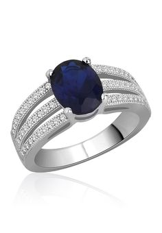 An oval blue colored Swiss zircon is attractively set in the middle of three bands of pave set Swiss zirconia. The deep blue color and the rich rhodium polish exude a regal charm. Womens Jewelry Rings, Fine Jewelry, Women Jewelry, Silver Jewellery, Best Ring Designs, Fashion Jewellery Online, Rings Cool, Rings Online, Jewelry Collection