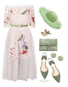 Spring Feeling Dress by ragnh-mjos on Polyvore featuring polyvore fashion style Temperley London Paul Andrew Patricia Nash Les Néréides Sensi Studio Full Tilt clothing