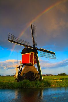 Windmill in Hoogmade, Holland  #Beautiful #Places #Photography