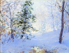 Étude d hiver, dessin de Walter Launt Palmer (1854-1932, United States)