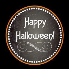 Free chalkboard Halloween party printables! #freeprintables #halloween