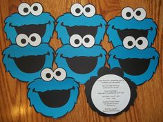 Cookie Monster Invitations Tutorial Kids Birthday Party Ideas and