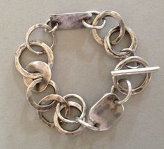 Sterling silver bracelet : Barbara Beamiss .... have just looked at her website - the sort of jewellery I have been looking for - fab :) More