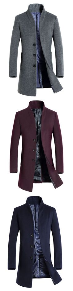 Winter Woolen Business Casual Trench Coat for #men #mensfashion #menswear #outfits