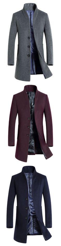 Winter Woolen Business Casual Trench Coat