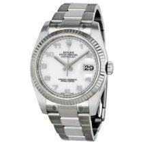 Rolex Datejust White Dial Automatic White Gold Bezel Steel Ladies Watch 116234WAO #Rolex #Watches #Women $6,695.00 Luxury Watches, Rolex Watches, Rolex Datejust, Chronograph, White Gold, Steel, Accessories, Women, Fancy Watches
