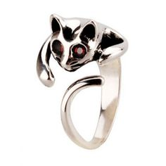 925 Sterling Silver Cat Rings - Gift One to the Lady in Your Life    #hallobeauty