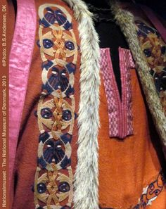 Details from the Mammen clothes at the Nationalmuseet, DK (10th century viking chief)