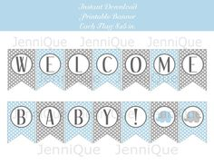 welcome baby boy banner