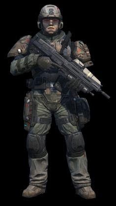 Halo 4 UNSC INFINITY Duty/Battle Dress Uniform (Loadout)