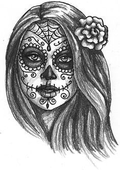 day of the dead girl coloring pages - Google Search