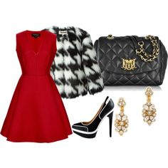 A fashion look from October 2014 featuring Giambattista Valli dresses, MICHAEL Michael Kors jackets and L.A.M.B. pumps. Browse and shop related looks.