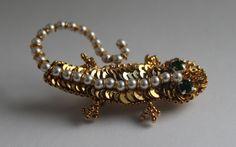 "Брошь-""Золотая Саламандра"" | biser.info - всё о бисере и бисерном творчестве"
