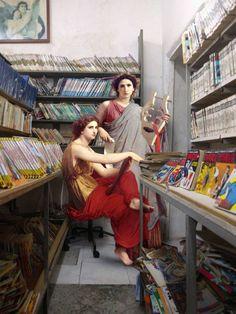Figuras clássicas, ambientes contemporâneos - artista: Alexey Kondakov