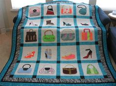 Fashion accessory quilt.  Love this design. Would prefer more classic colors. @Destiny Clancy