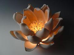 Gorgeous porcelain table lamps by artist Lilach Lotan