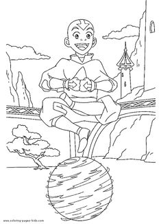 avatar the last airbender color page cartoon characters coloring pages color plate coloring sheet