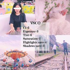 《❣最近韓國年輕人很愛用的色調❣》 APP: VSCO ♡這個我在IG、styleshare上幾乎是一直看到的色調啊!韓國年輕妹妹們超愛的❤️我把顏色調的比較重一點,有的韓妞她們沒有調這麼重,但就是以此數據去慢慢調整就對了!✨✨ ☆調色如下: C1+6 Exposure曝光+3 Tint色調+6 Saturation飽和度+2 Highlights save高亮減淡+4 Shadows save陰影補償+3 --- 請依照你照片的需求去調整數據or加調其他的! #filter_i_use #vsco #vscocam #c1