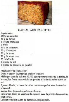Recette gateau aux carottes tupperware