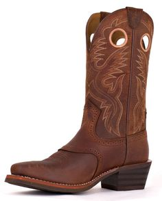 Men's Heritage Roughstock Square Toe Boot - Brown Oiled Rowdy $150