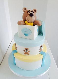 Teddy in the box - Cake by Bella's Bakery