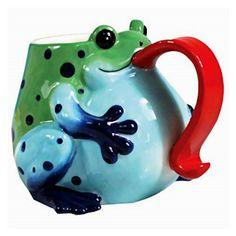 Cute frog mug. The Frog Store.