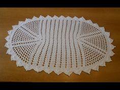 Tapete Simples de crochê oval em barbante parte 2 - crochet rug - alfomb...