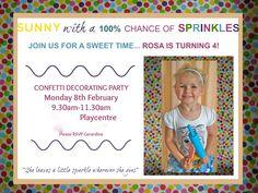 Confetti and Sprinkles Party Cupcake Decorating Party, Sprinkle Party, Confetti, Party Invitations, Rsvp, Sprinkles