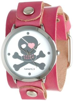 Nemesis Women's P821PVGB Elegant Heart Skull Love Watch #skulls #skullsfashion #skullwatch more at http://skullclothing.net
