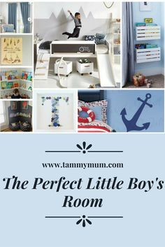 The Perfect Little Boy's Room. Decor and furniture tips and ideas for creating the perfect little boy's bedroom