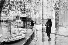Items similar to Double Exposure Photography print or canvas, surreal wall art, NYC wall art, Black and white home decor, rainy street merged marina on Etsy Rainy Street, Double Exposure Photography, White Home Decor, White Houses, Picture Sizes, Surrealism, Fine Art Prints, Scene, Nyc
