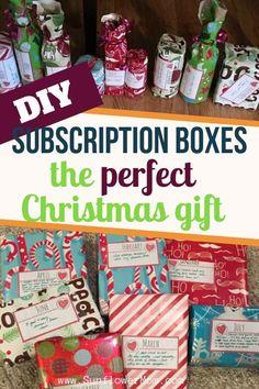 Christmas Gift Baskets, Homemade Christmas Gifts, Christmas Gifts For Kids, Christmas Ideas, Christmas Projects, Christmas Stuff, Holiday Fun, Subscription Boxes For Kids, Subscription Gifts
