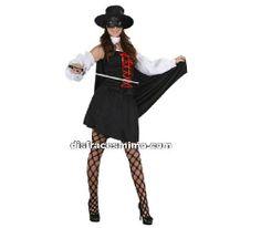 Tu mejor disfraz de superheroe zorro adulto para mujer bt10108Éste traje es perfecto para vestirse de la mujer del Zorro. Con este original disfraz sorprenderás a todos en las Fiestas de Disfraces, Despedidas, Carnaval o Fiestas Temáticas.