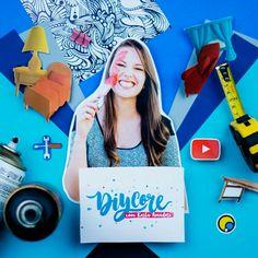 Várias dicas de decoração no canal do YouTube Diycore! #FazendoArteNaDia #scrapbooking #DIY #decor
