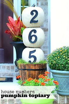 House numbers pumpkins