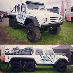 @cskautomotive brought their 'little' 6x6 to #peterboroughlandrovershow #landroverphotoalbum #landrover @landrover