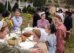 Women and men eat at separate tables. Men are served first.  I often wonder if I could live the Amish life.  It all seems to simple and loving.