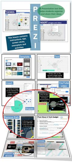 •	Prezi is a presentation tool that helps students organize and share their ideas •	Instead of slides and bullet points (PowerPoint), Prezi offers a zoomable canvas, which makes it fun to explore ideas. This lesson contains… 1.	Instructions and Tips 2.	Screen Shots 3. Exemplars 4.	2 Activities 5.	a Marking Scheme